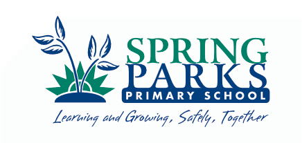 Spring Parks Primary School Logo Reversed